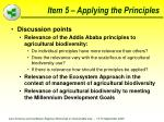 item 5 applying the principles