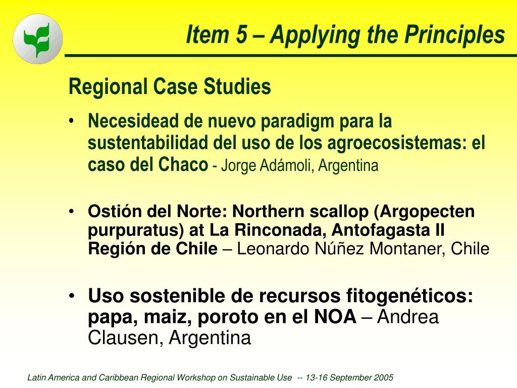 Regional Case Studies
