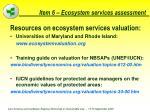 item 6 ecosystem services assessment62