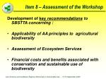 item 8 assessment of the workshop76
