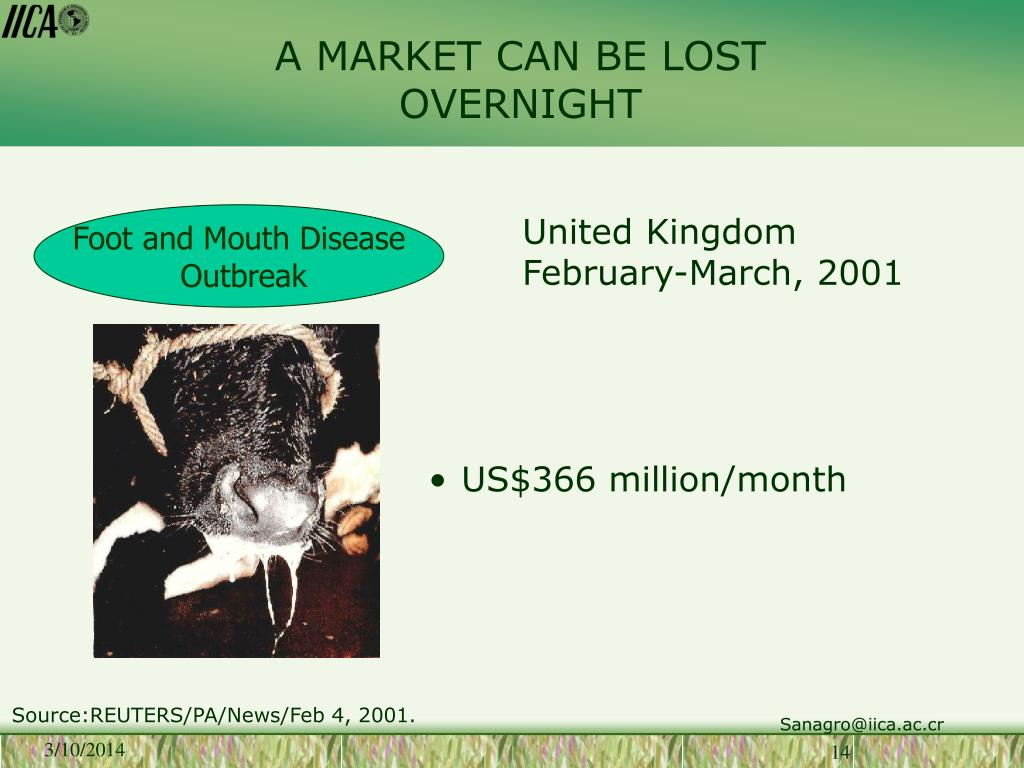 A MARKET CAN BE LOST OVERNIGHT
