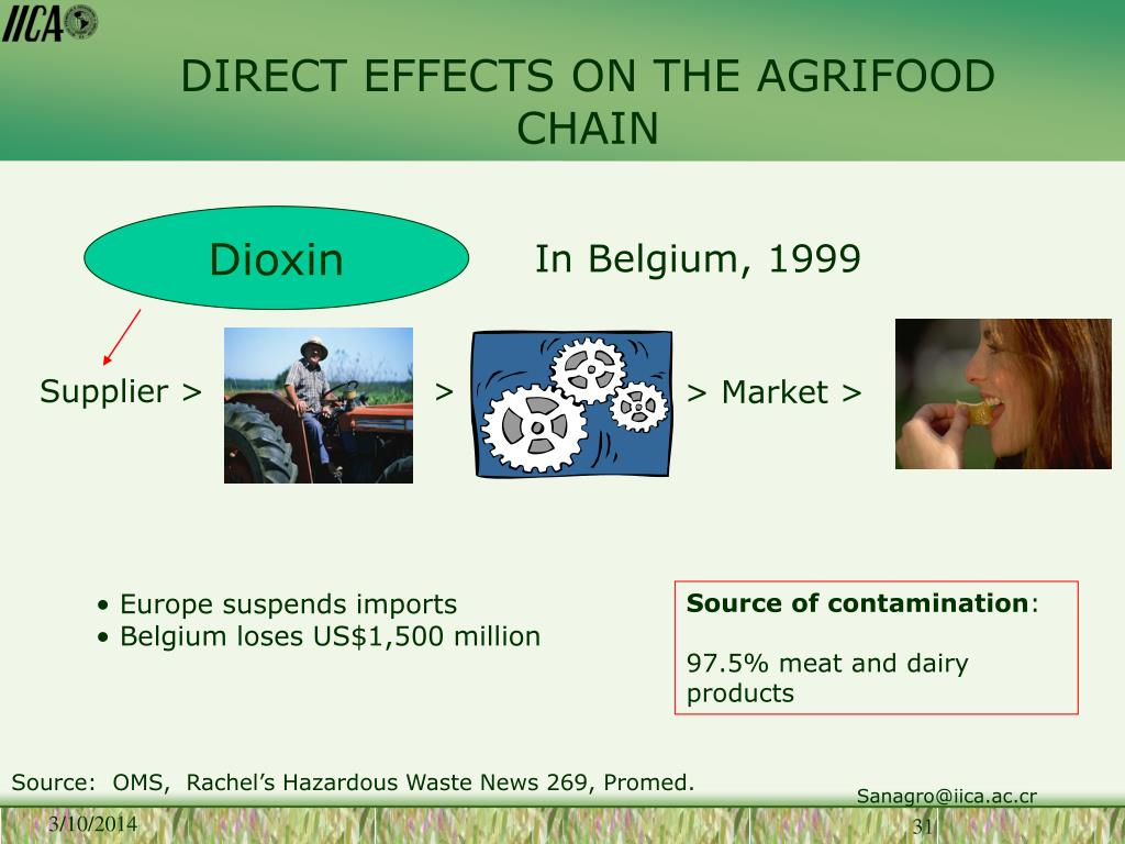 DIRECT EFFECTS ON THE AGRIFOOD CHAIN