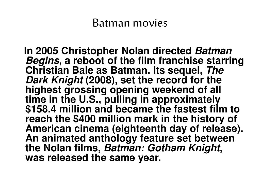 Batman movies