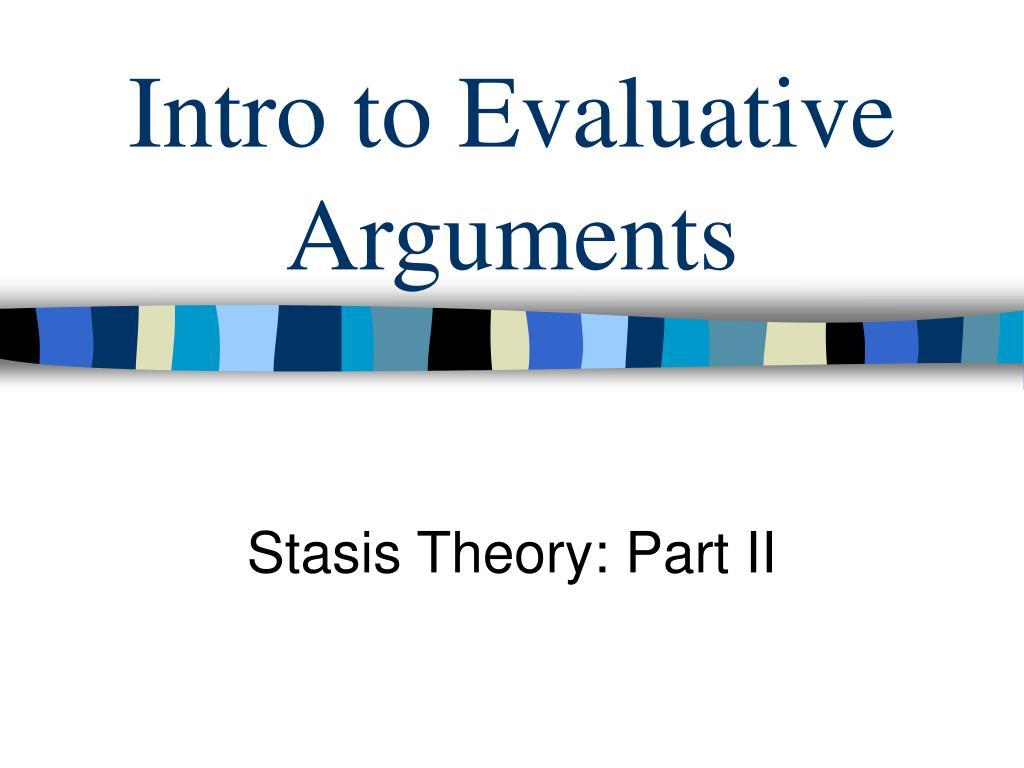 Intro to Evaluative Arguments