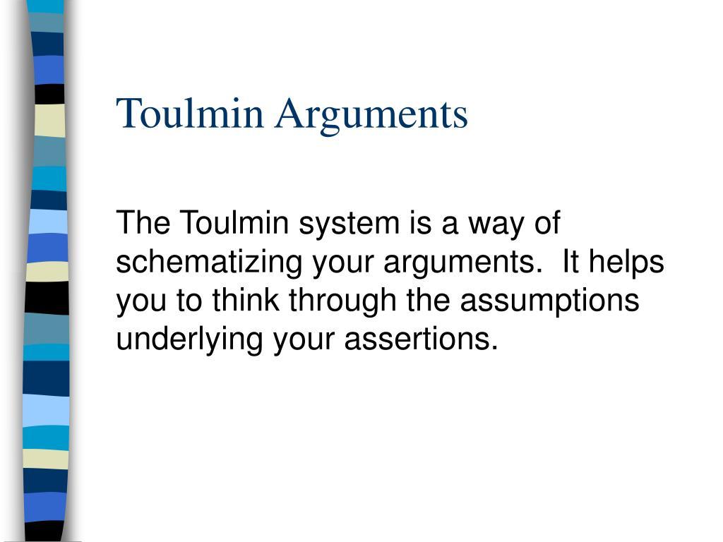 Toulmin Arguments