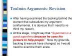 toulmin arguments revision