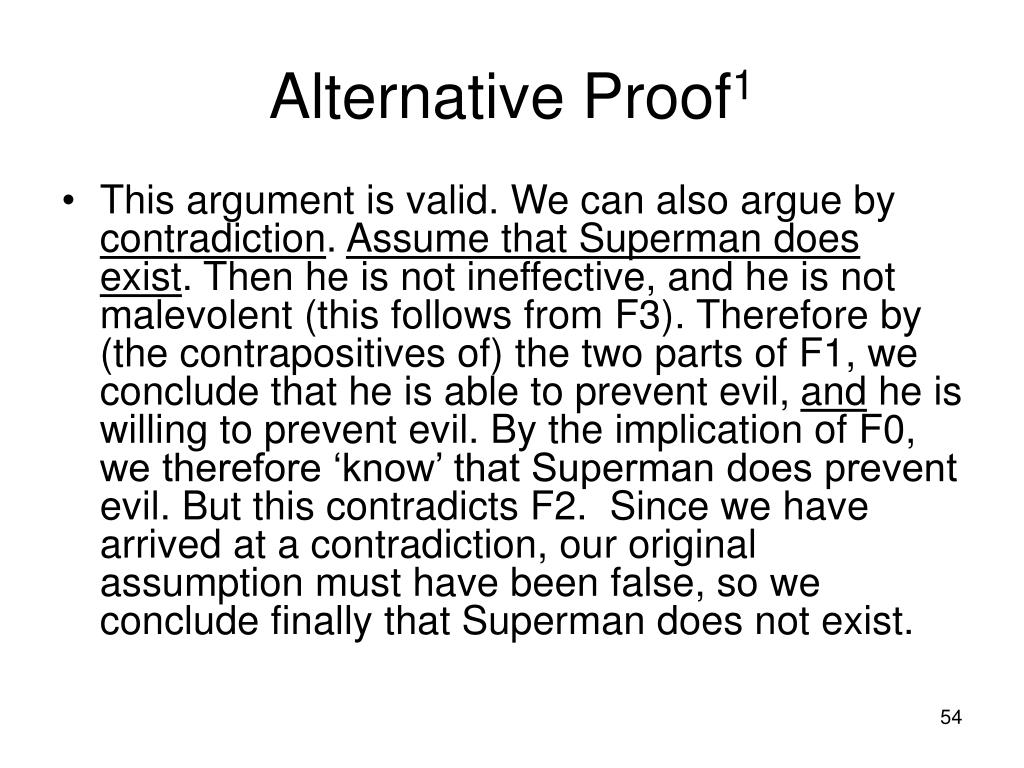 Alternative Proof