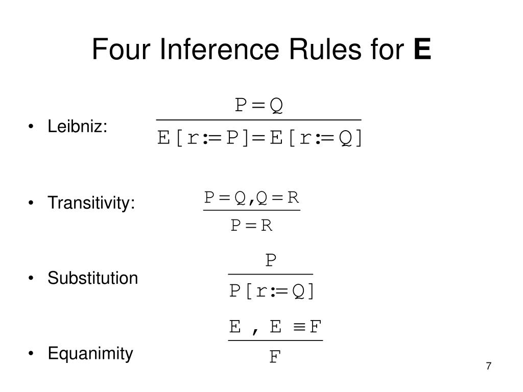 Four Inference Rules for
