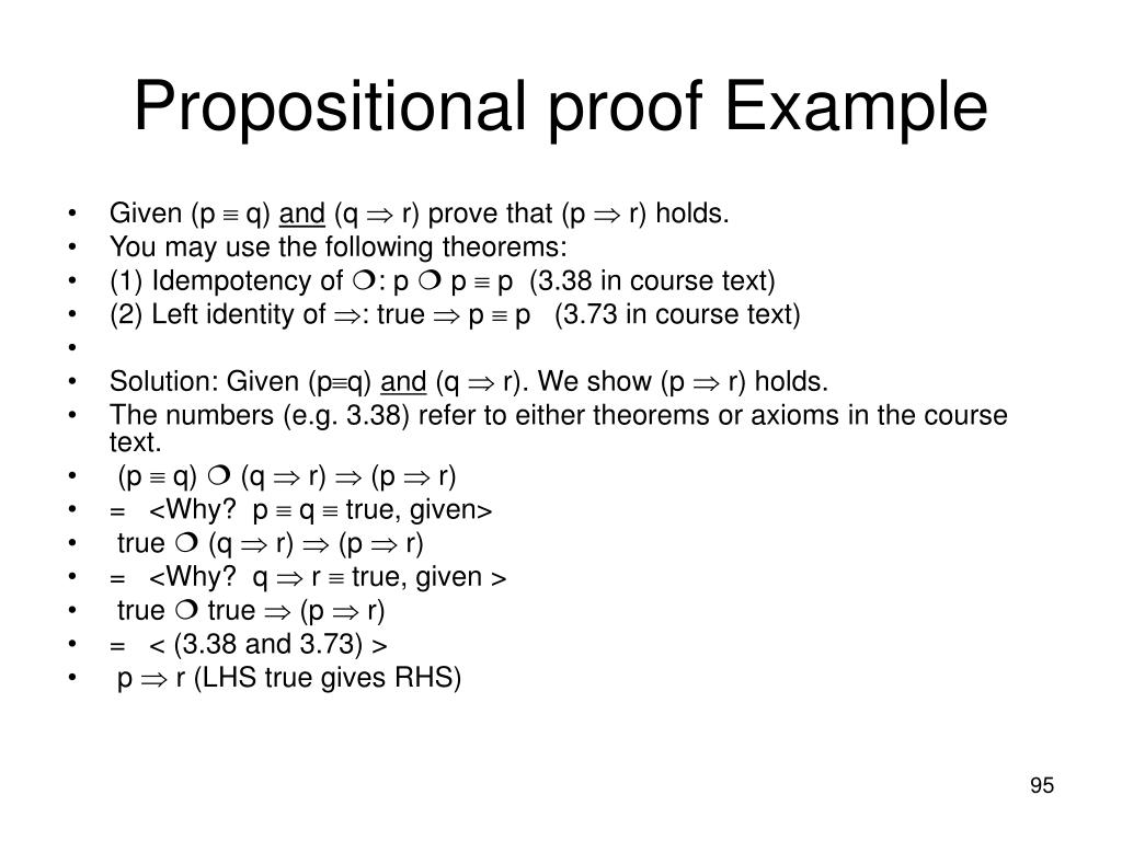 Propositional proof Example