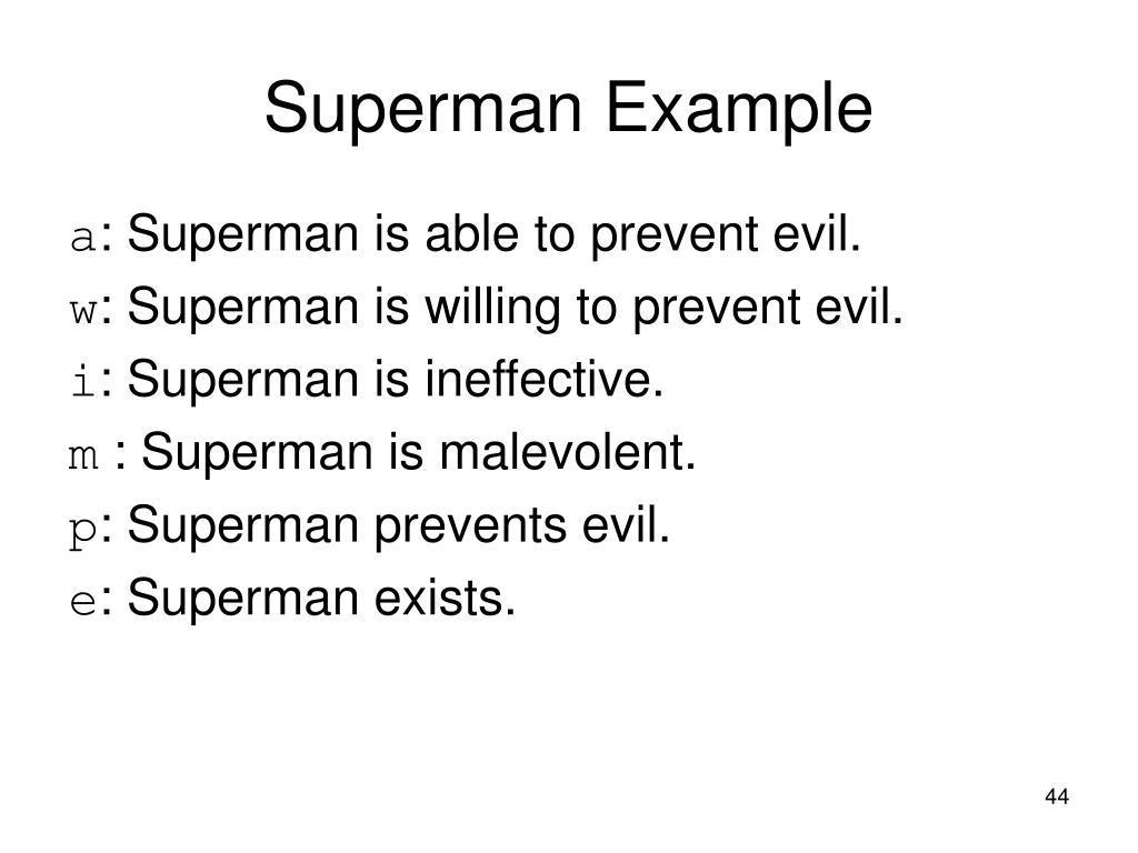 Superman Example