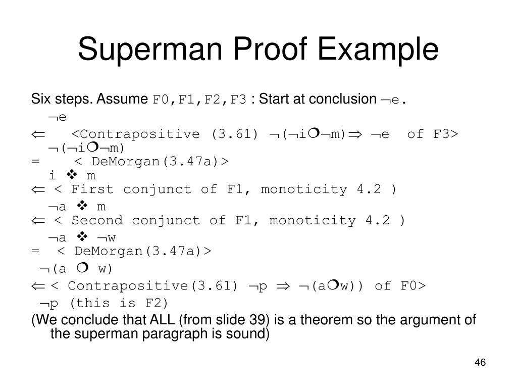 Superman Proof Example