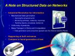 a note on structured data on networks