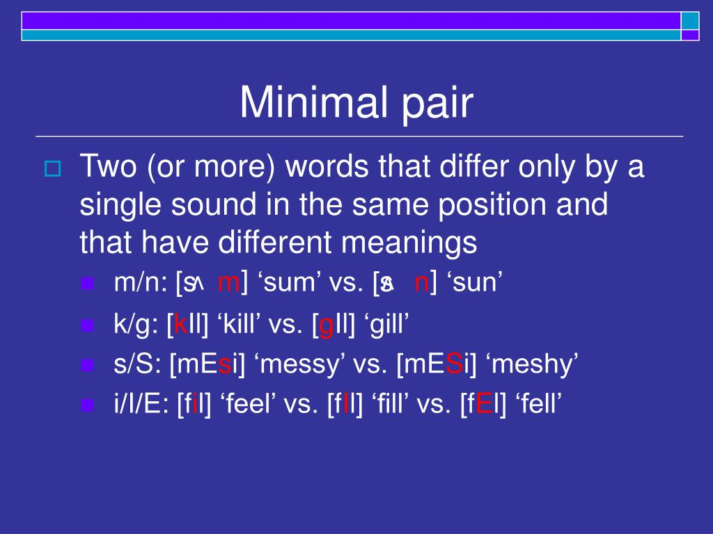 Minimal pair