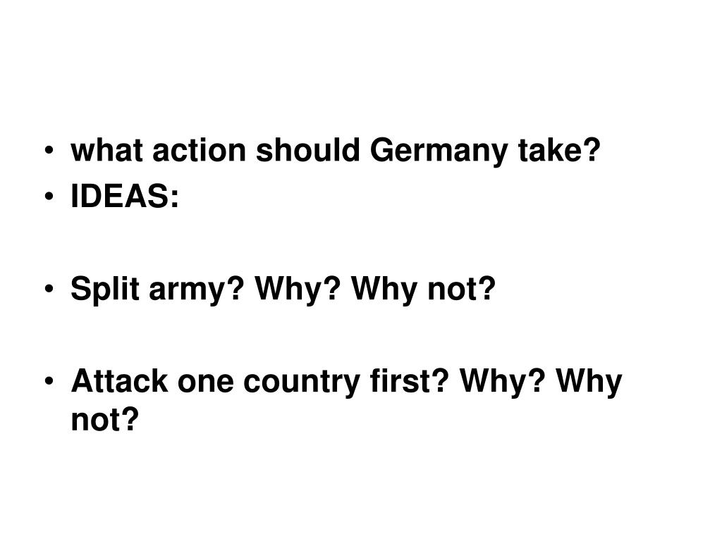 what action should Germany take?