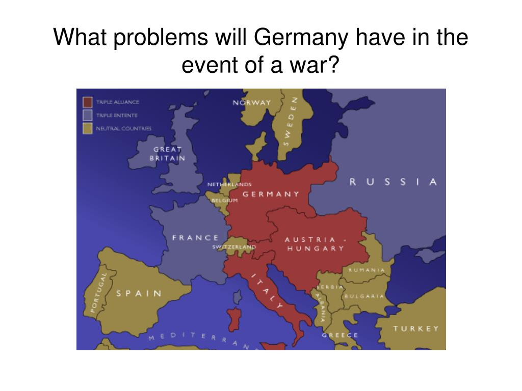 What problems will Germany have in the event of a war?