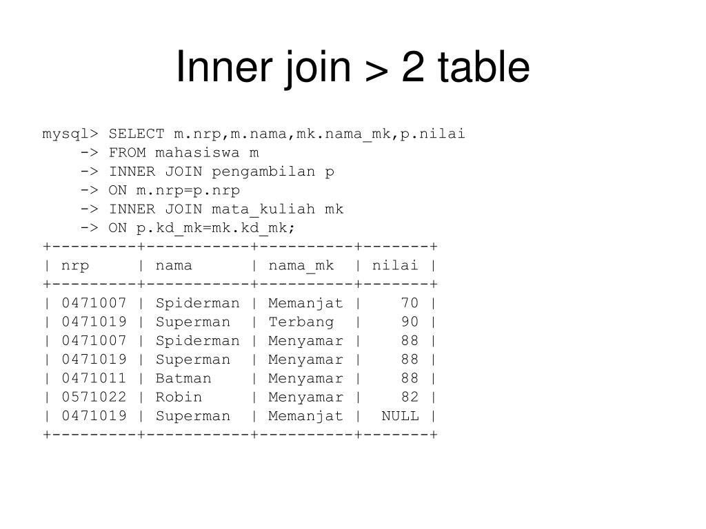 Inner join > 2 table