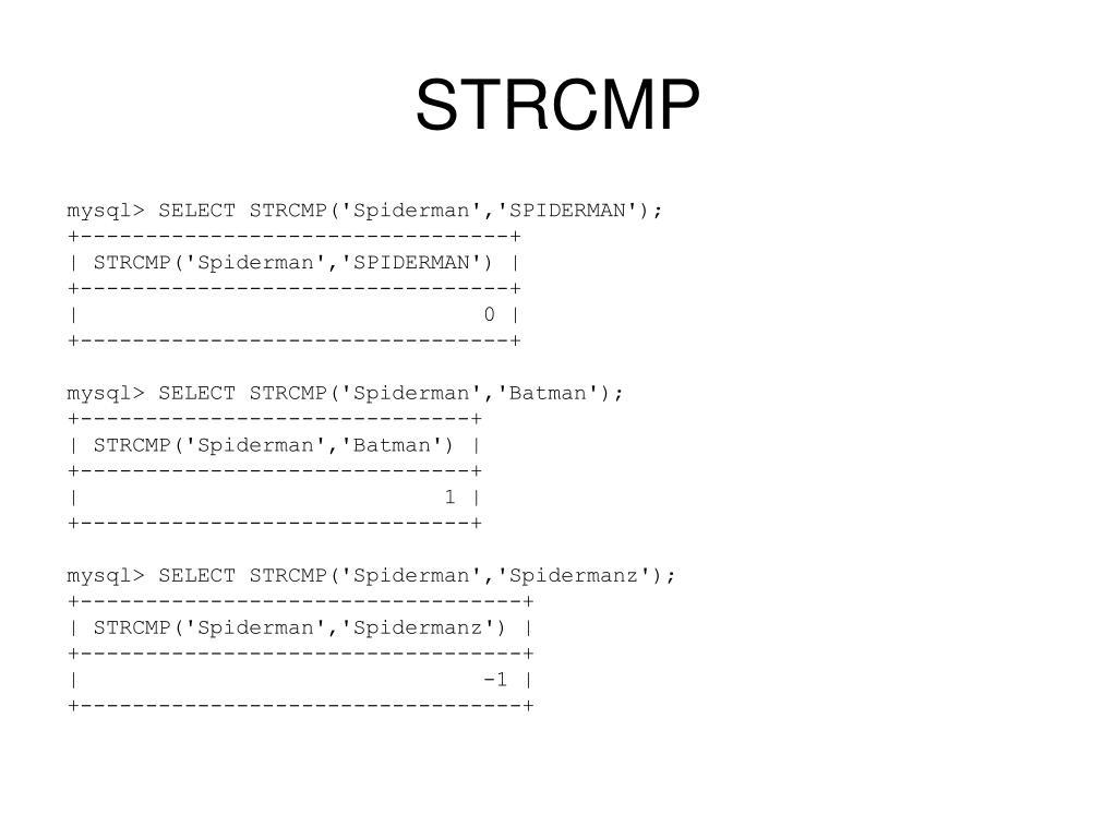STRCMP