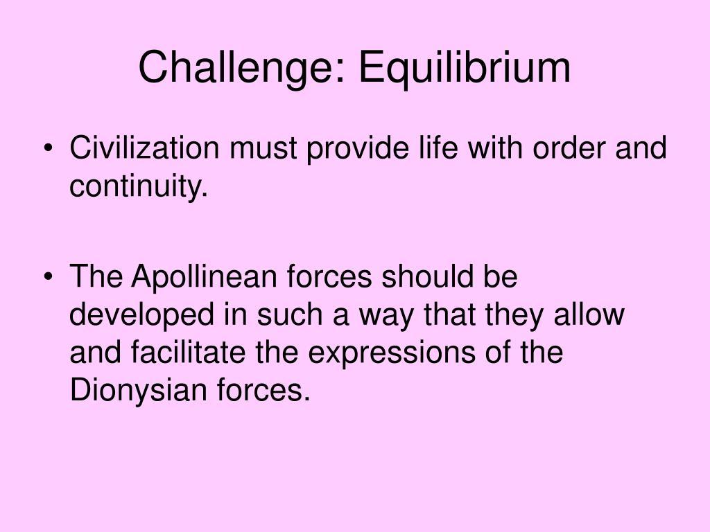 Challenge: Equilibrium