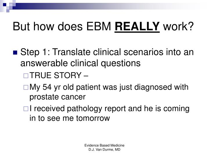 But how does EBM