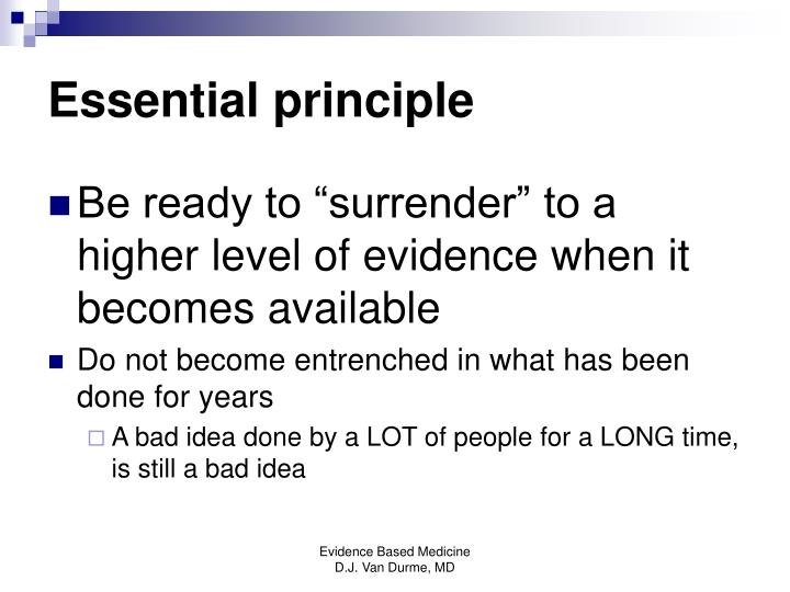 Essential principle