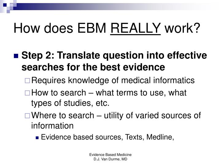 How does EBM