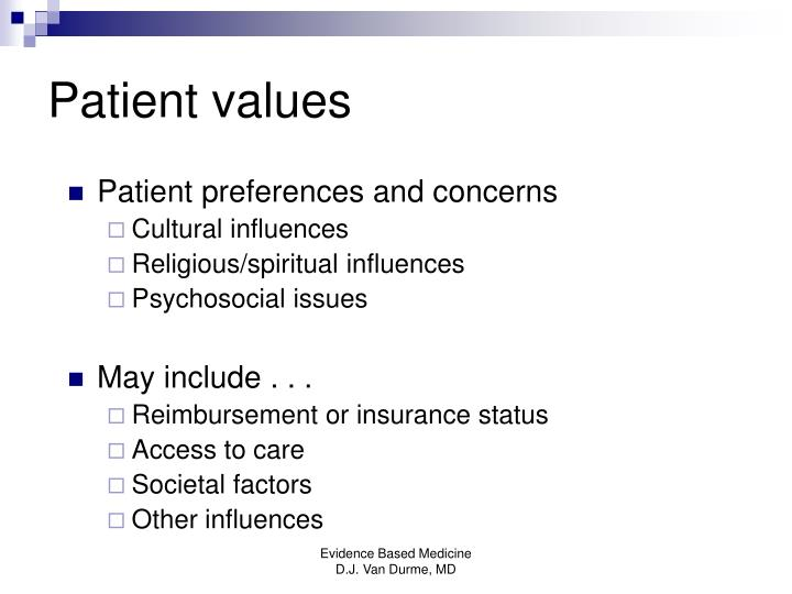 Patient values