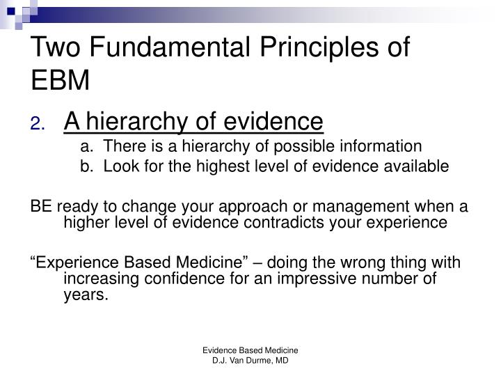 Two Fundamental Principles of EBM