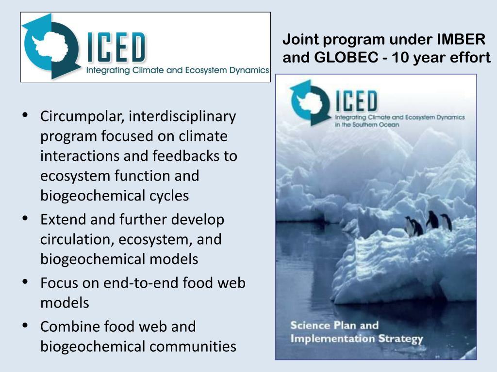 Joint program under IMBER