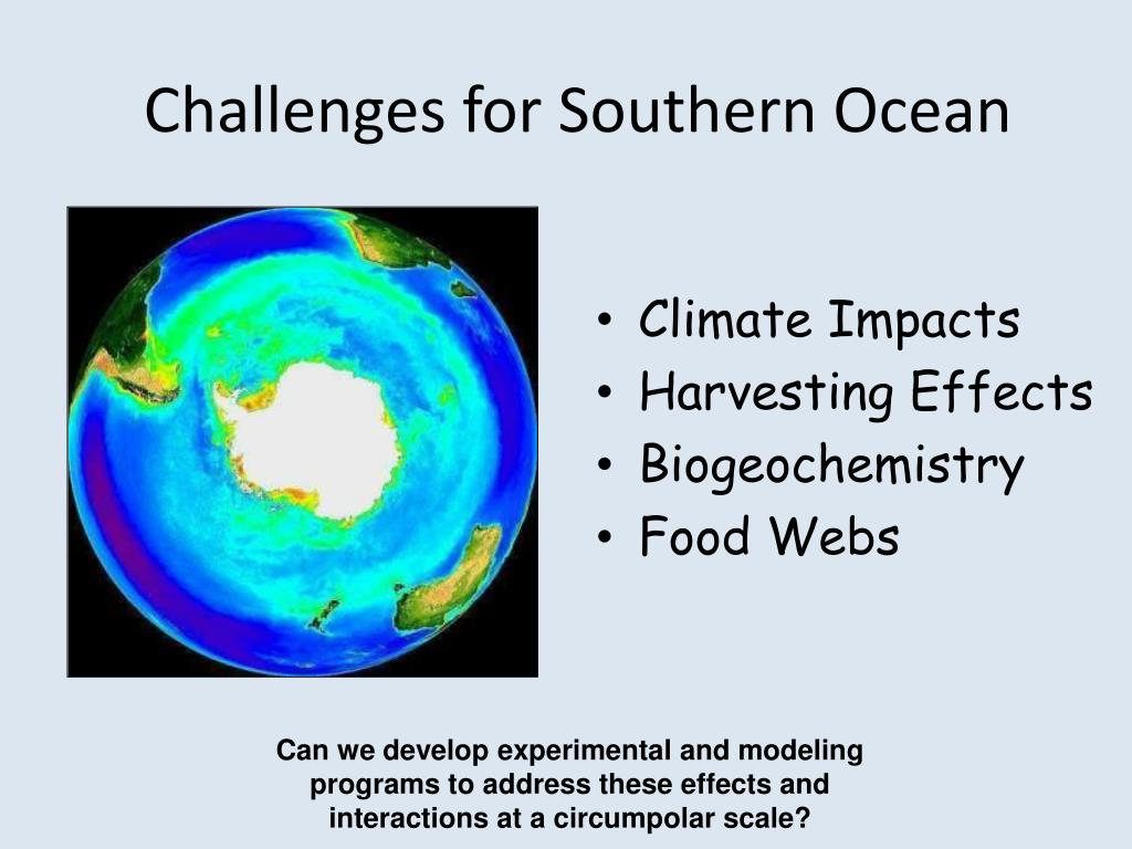 Challenges for Southern Ocean