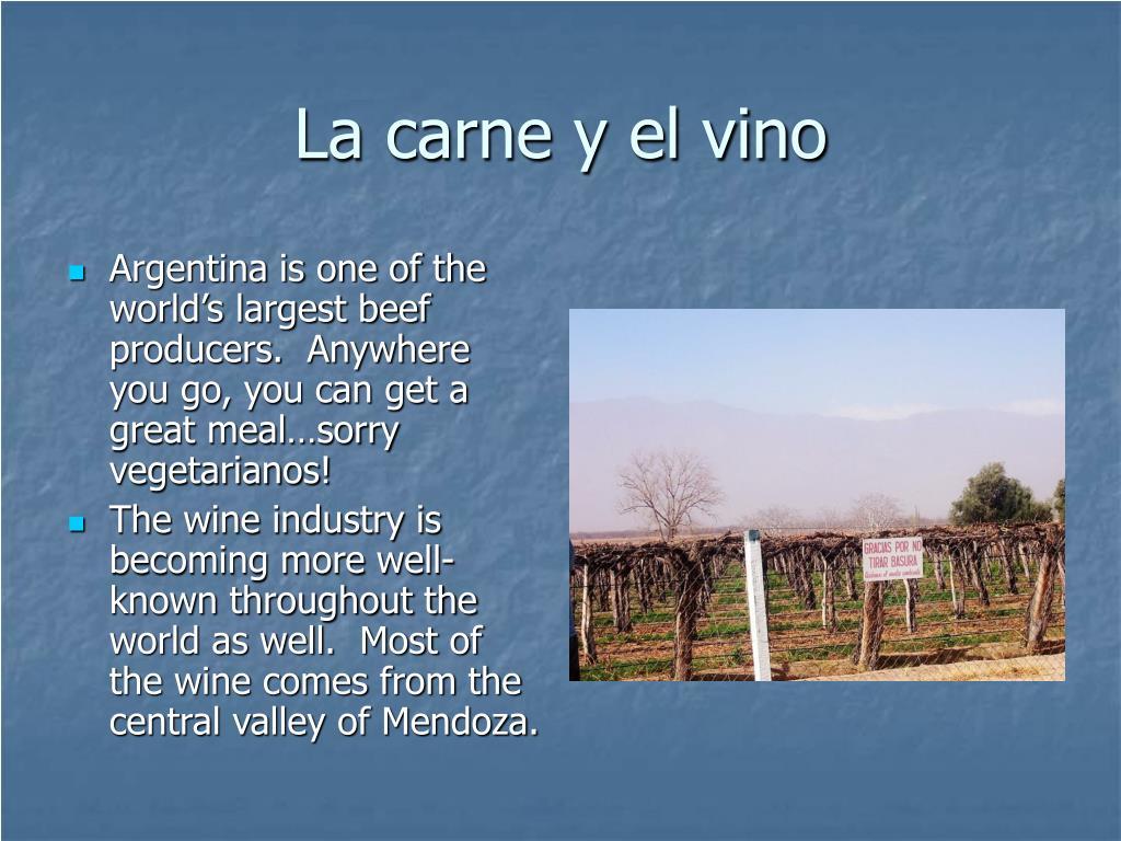 La carne y el vino