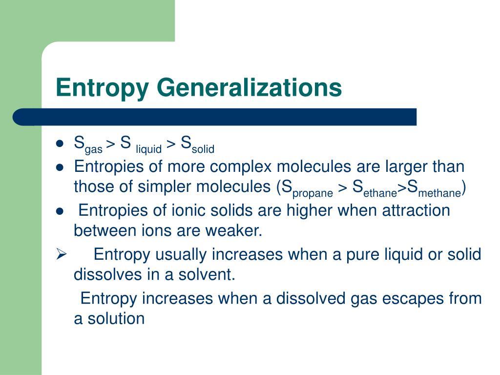 Entropy Generalizations