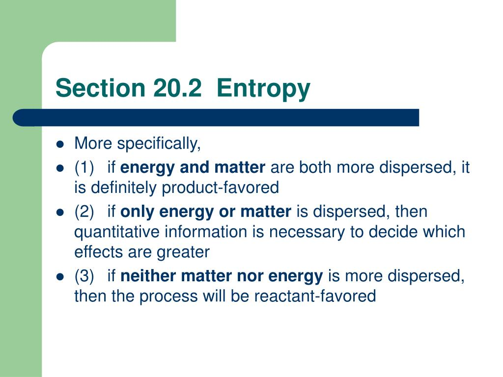 Section 20.2  Entropy