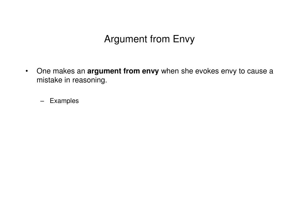 Argument from Envy