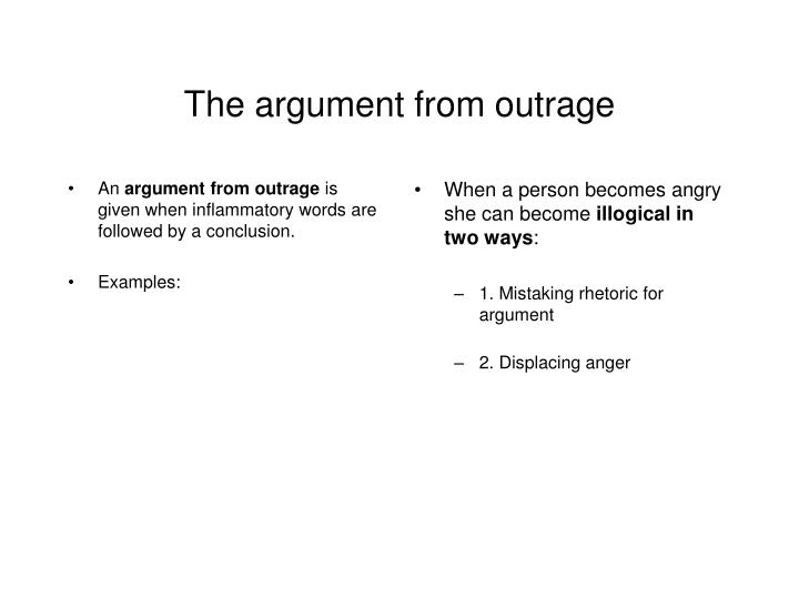 The argument from outrage l.jpg