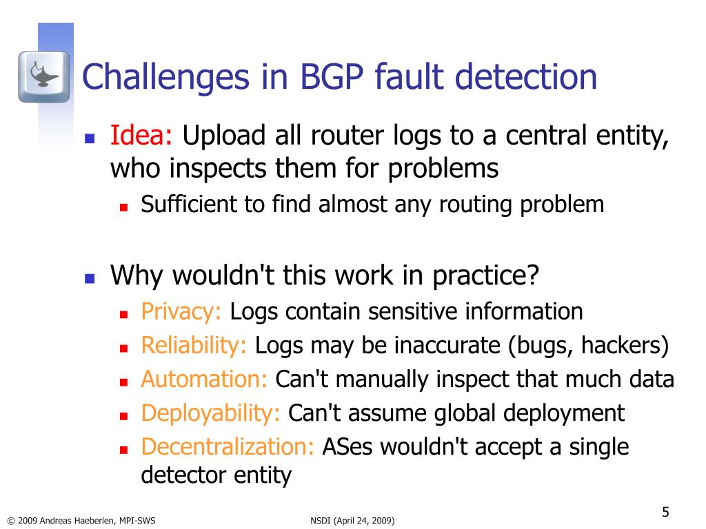 Challenges in BGP fault detection