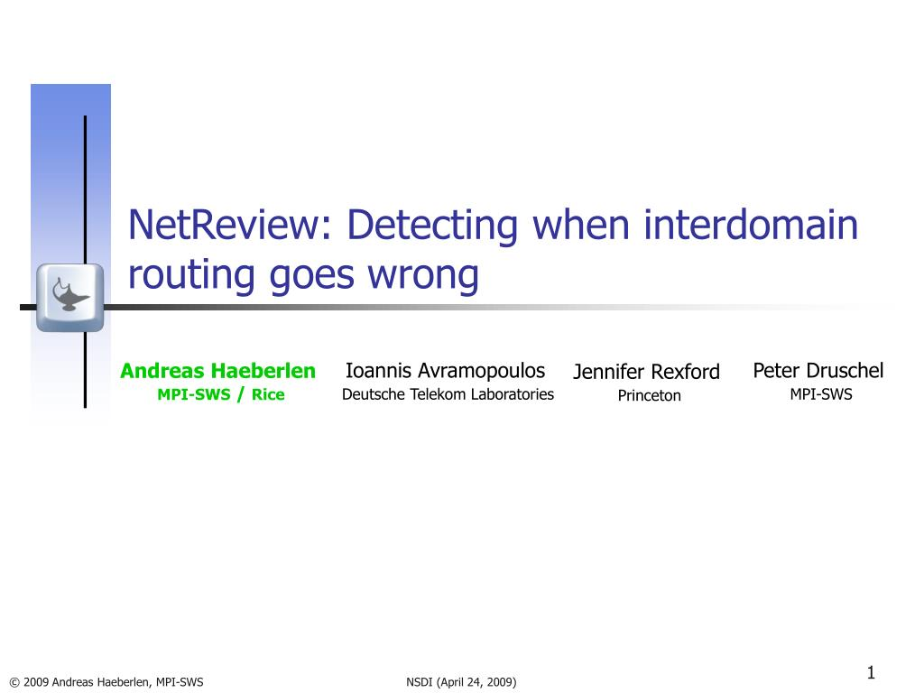 NetReview: Detecting when interdomain routing goes wrong