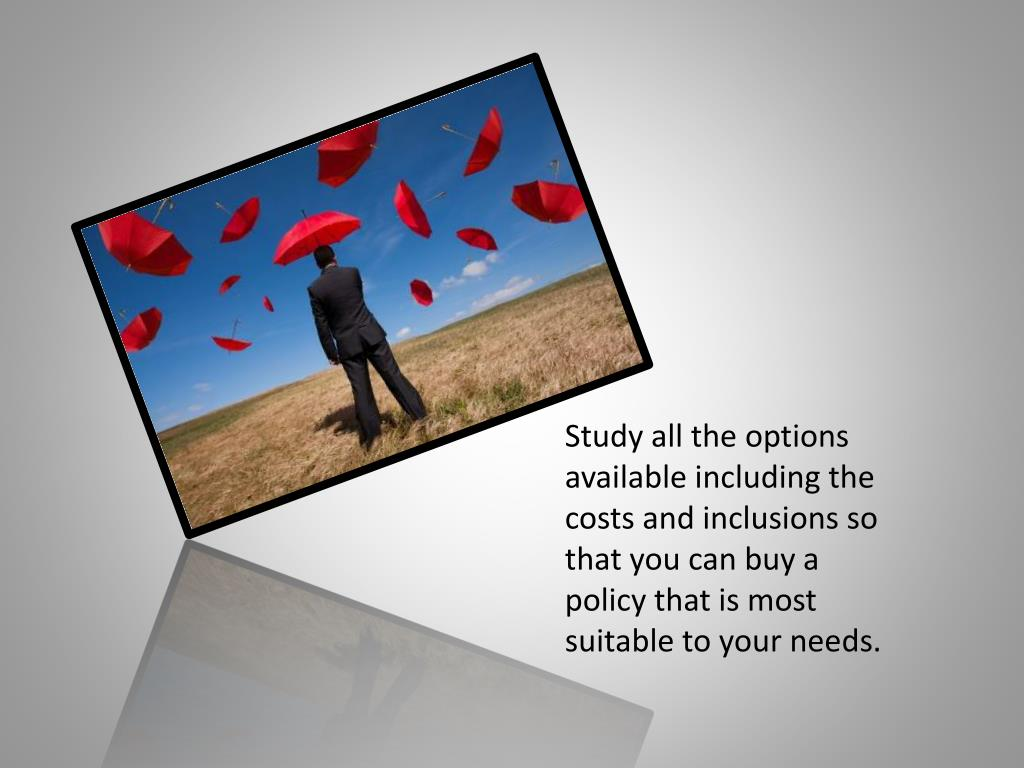 Study all the options available including the costs and inclusions so that you can buy