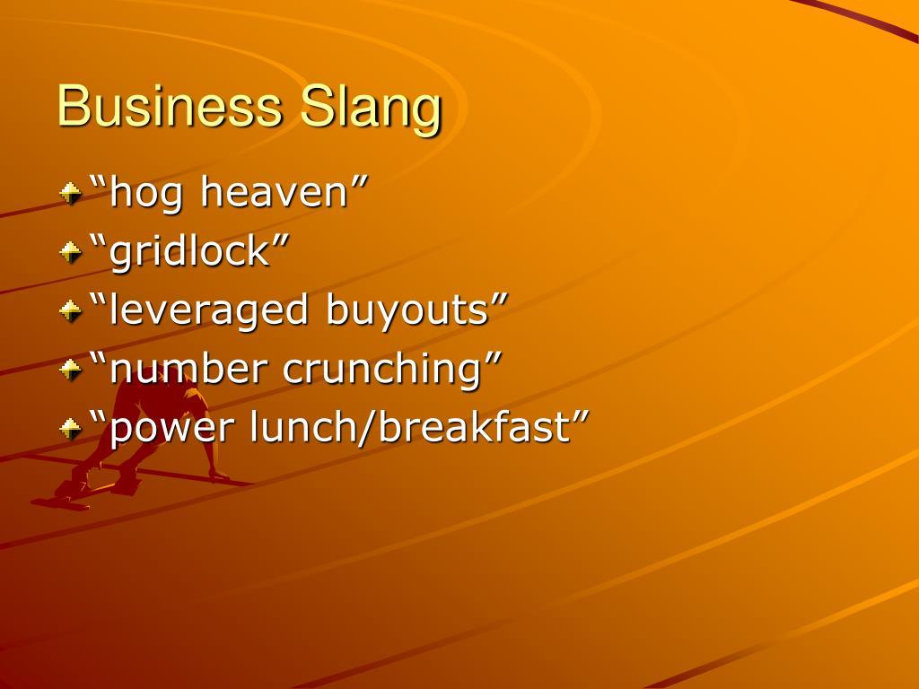 Business Slang