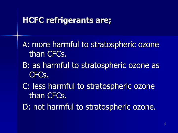 Hcfc refrigerants are