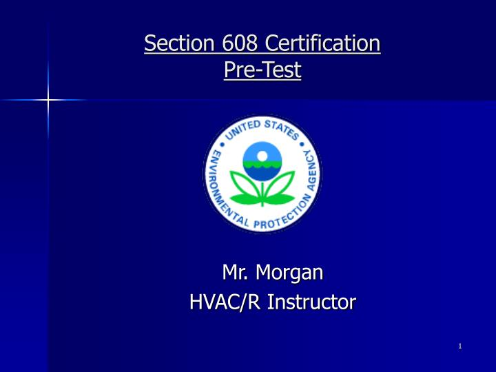 Mr morgan hvac r instructor