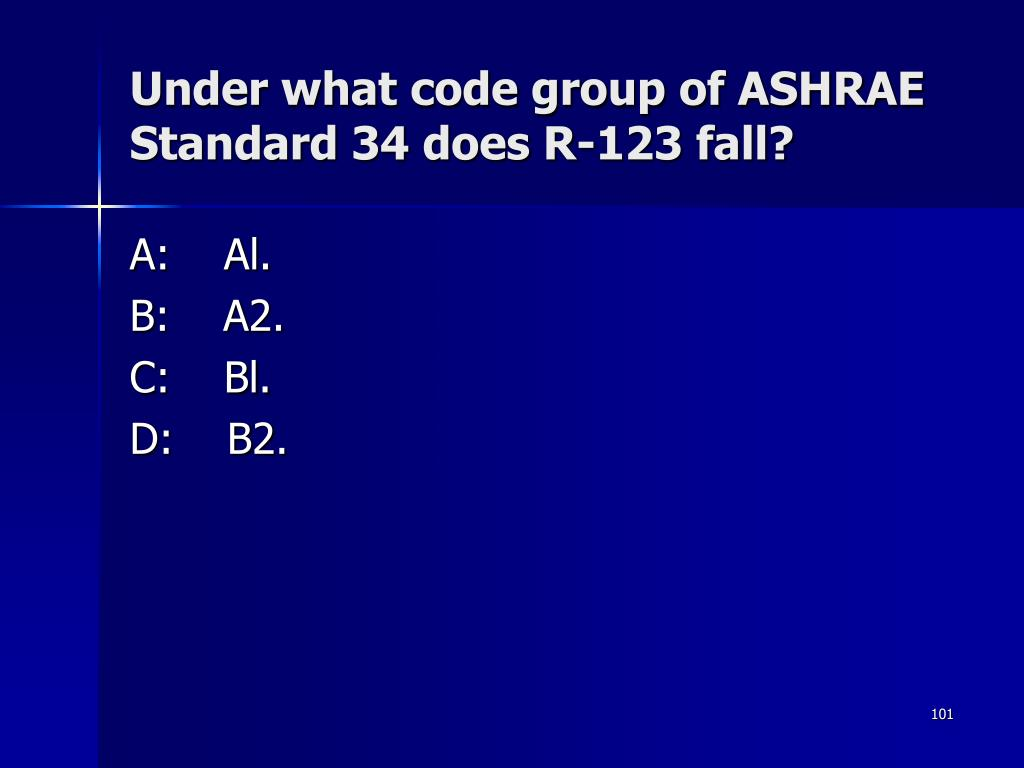 Under what code group of ASHRAE Standard 34 does R-123 fall?