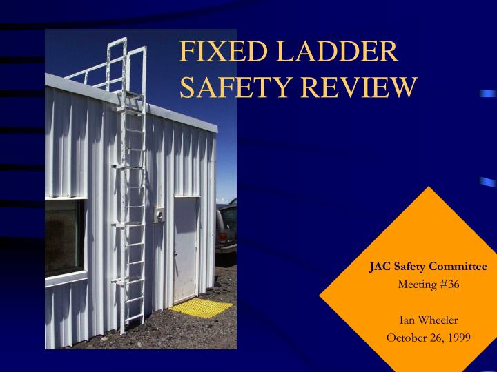 Fixed ladder safety review