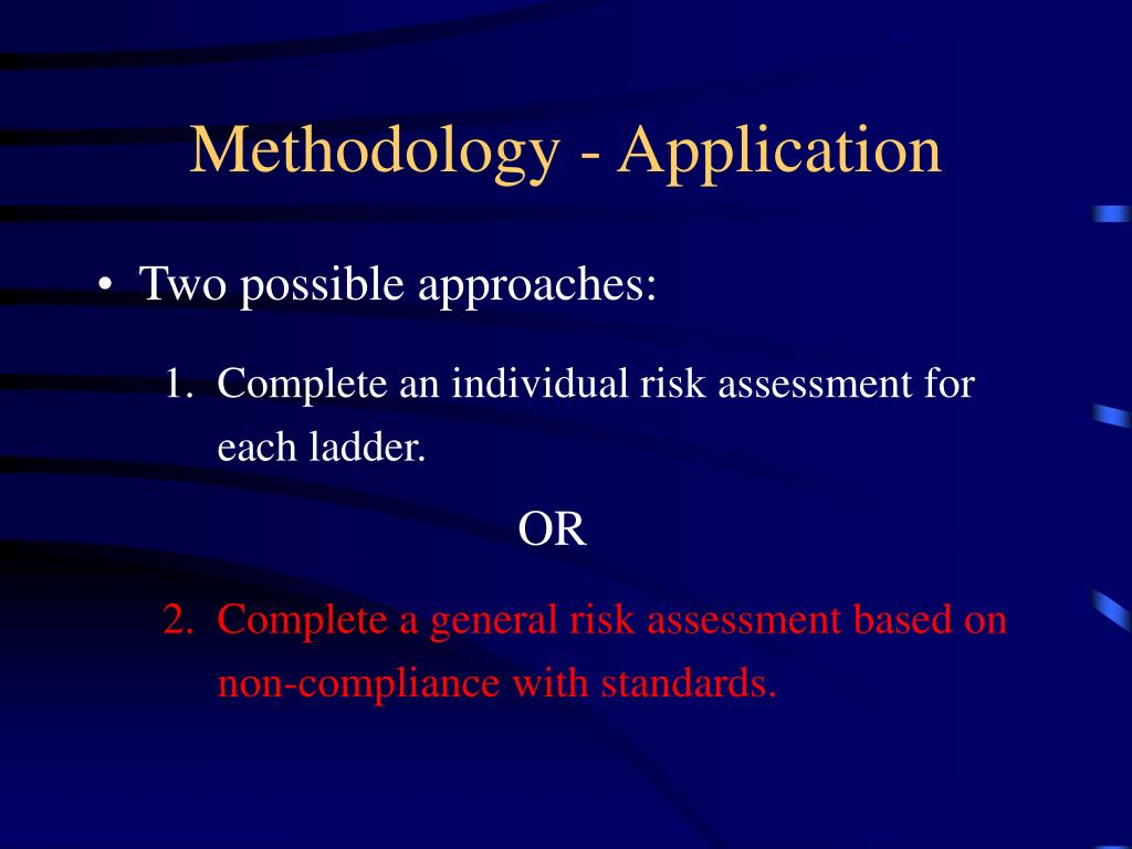 Methodology - Application
