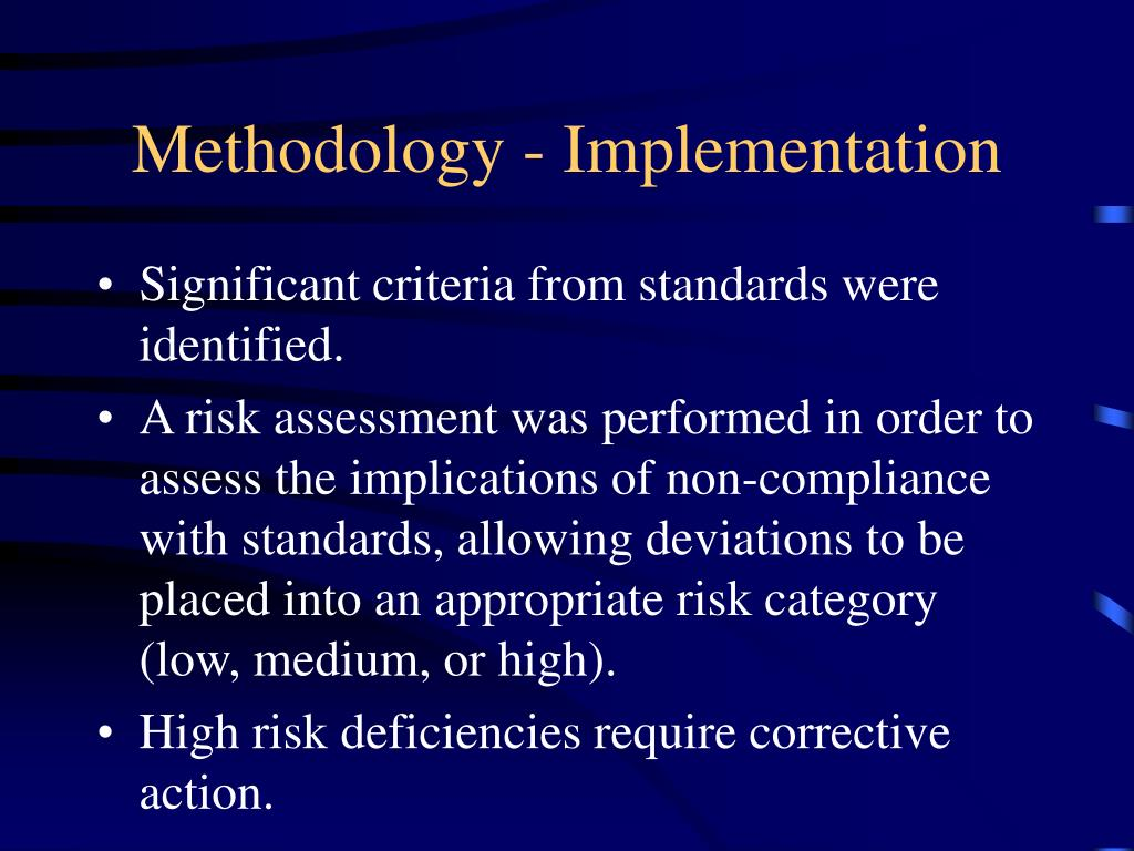 Methodology - Implementation