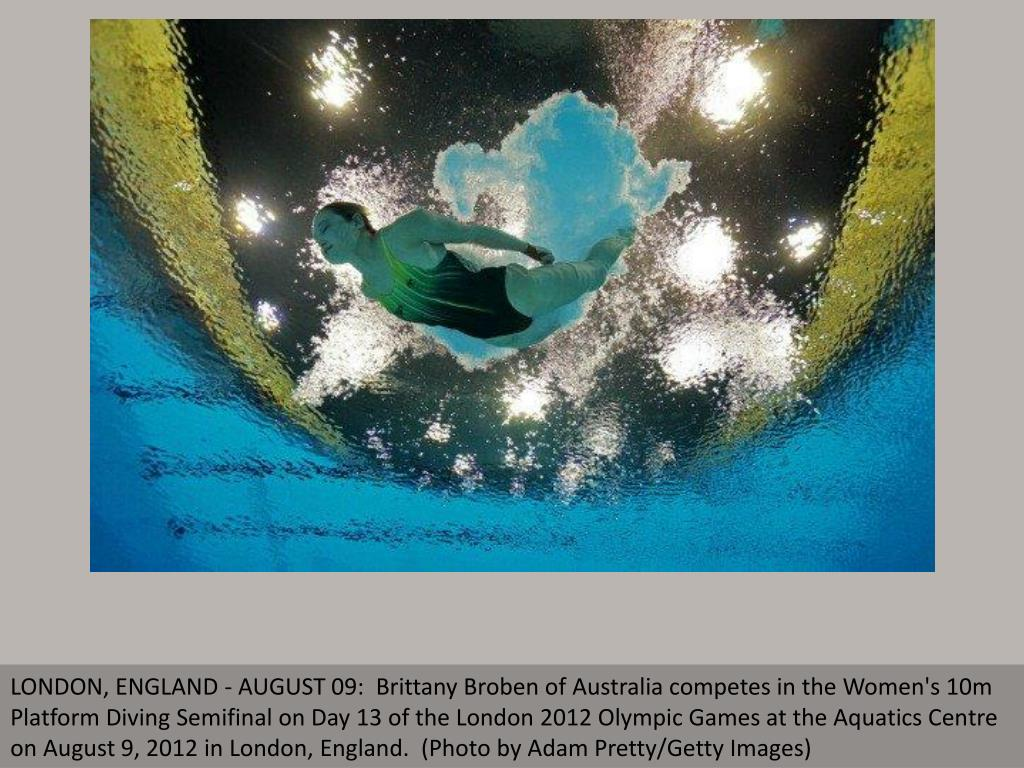 LONDON, ENGLAND - AUGUST 09:  Brittany Broben of Australia competes in the Women's 10m Platform Diving Semifinal on Day 13 of the London 2012 Olympic Games at the Aquatics Centre on August 9, 2012 in London, England.  (Photo by Adam Pretty/Getty Images)