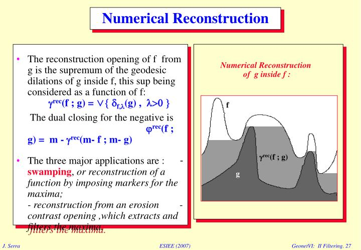 Numerical Reconstruction