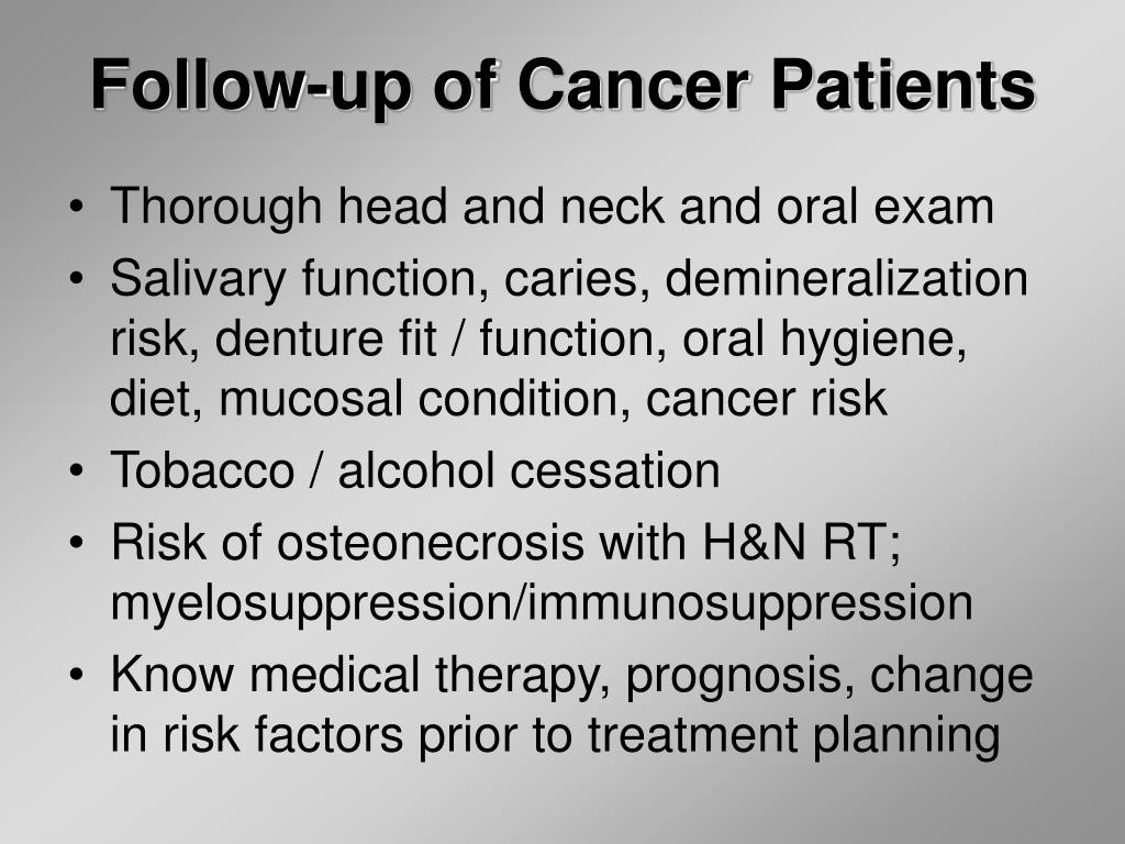 Follow-up of Cancer Patients