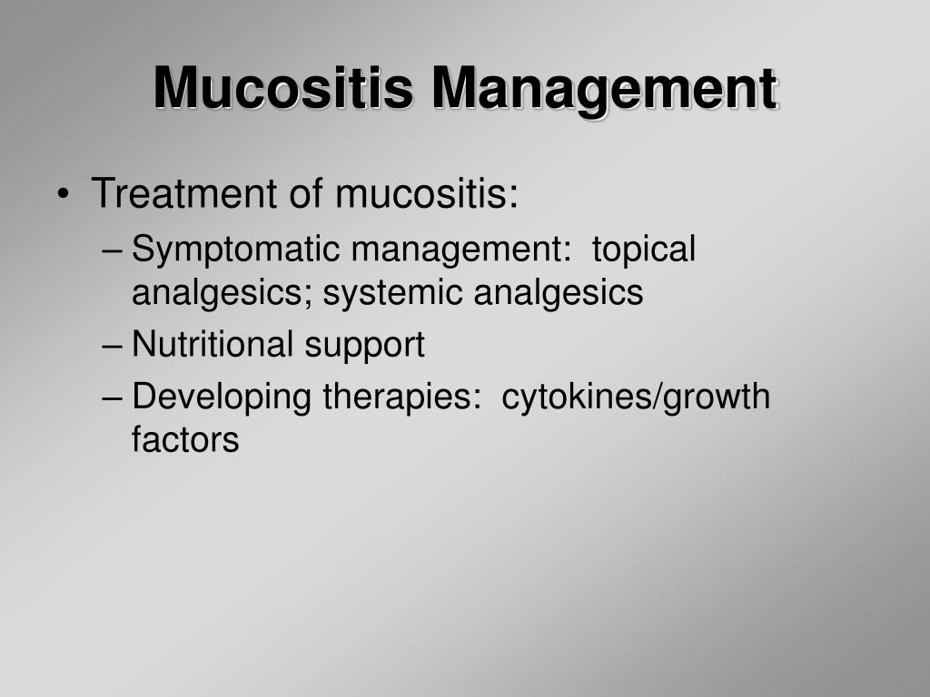 Mucositis Management