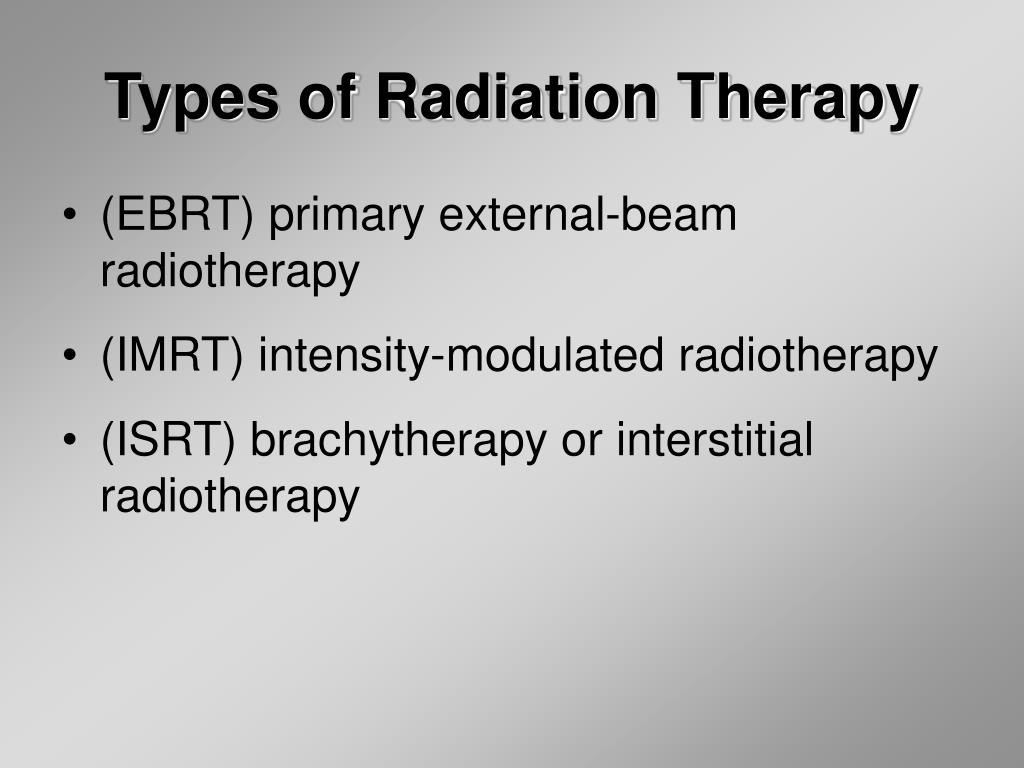 Types of Radiation Therapy