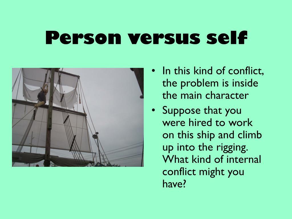 Person versus self